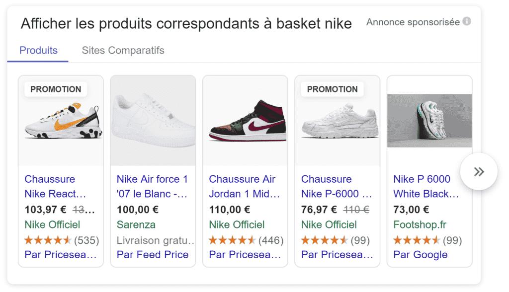 extension avis sur les produits google ads