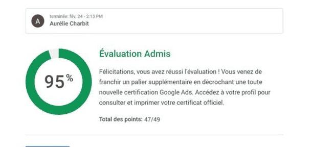 Réussite certification
